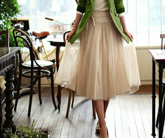 green-cardigan-net-skirt2