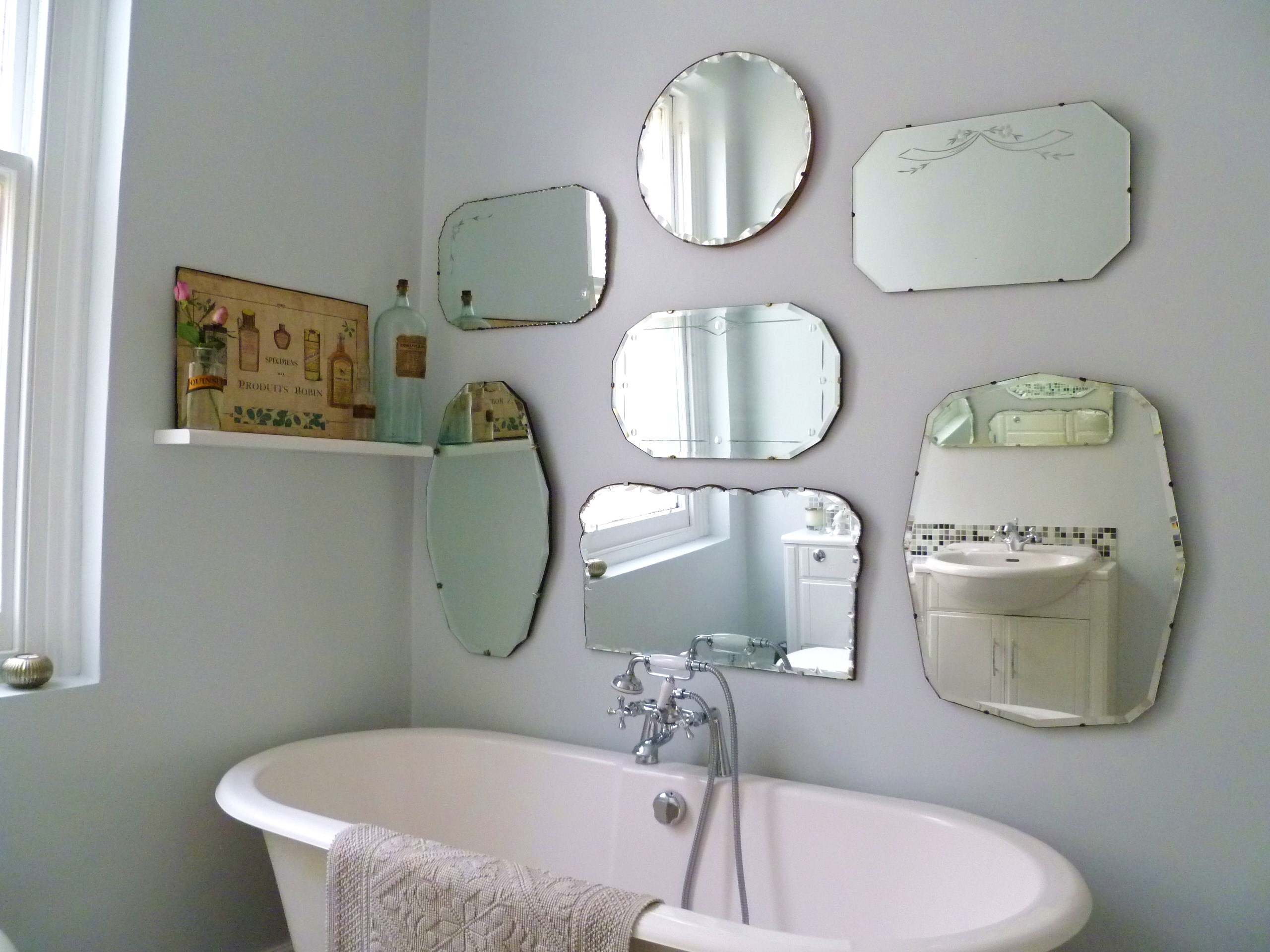 How To Hang A Display Of Vintage Mirrors Decorator S
