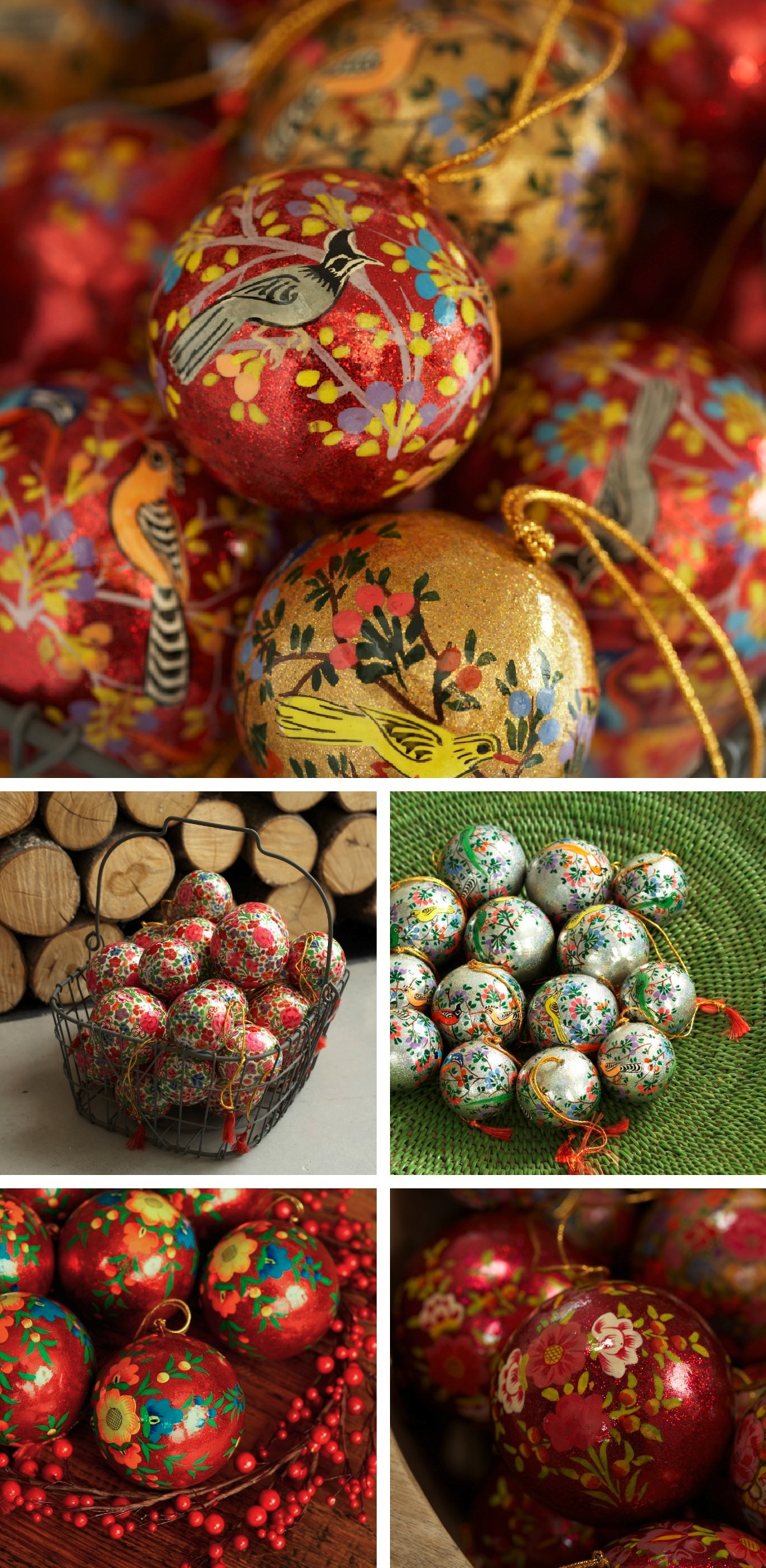 Possibly the world 39 s most beautiful baubles decorator 39 s for Paper mache christmas