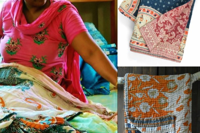 Kantha bedspreads made by women's social enterprise for Decorator's Notebook (763x800)