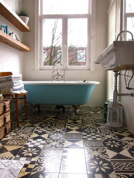 Patterned Tiles Floors I Saw And Liked Decorators Notebook