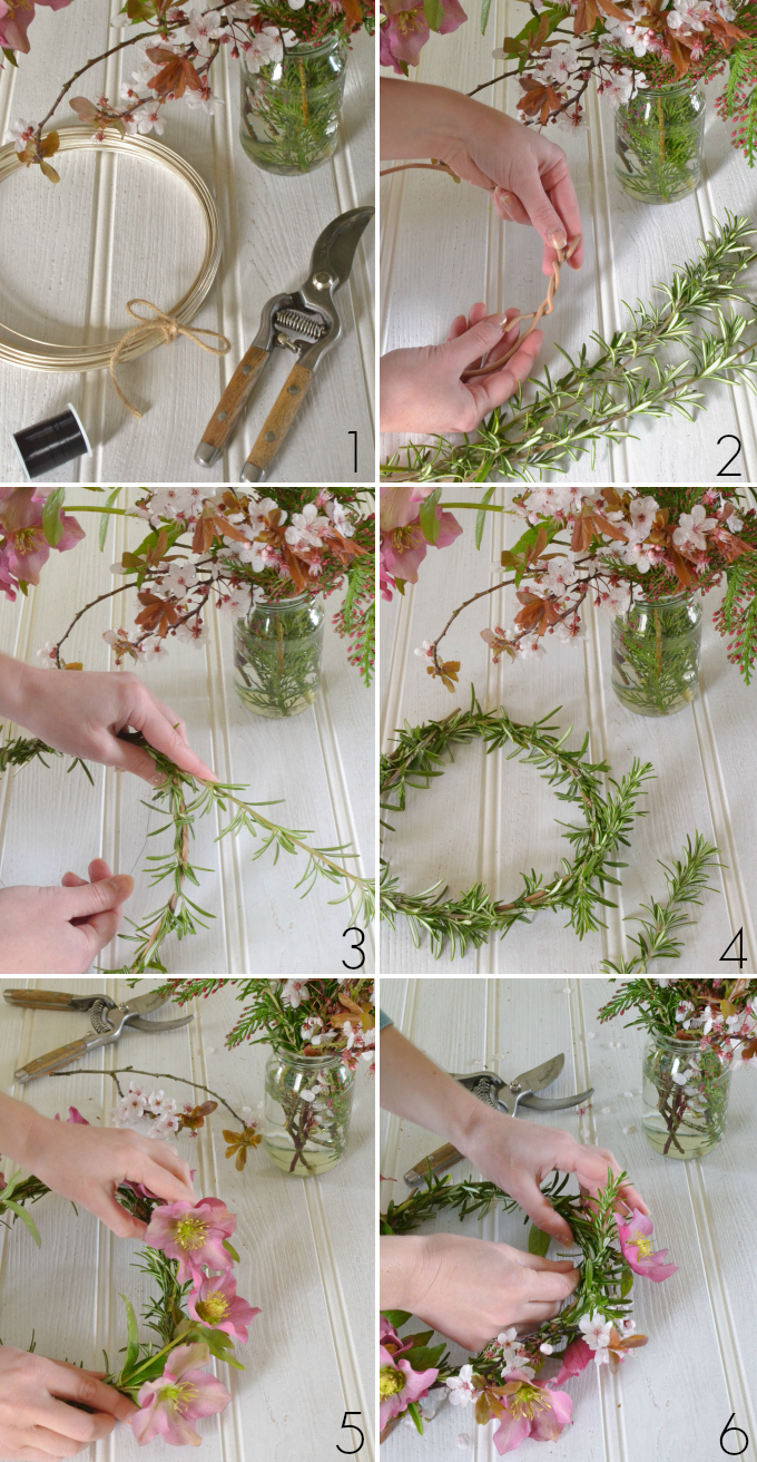 Diy how to make a spring flower crown decorators notebook diy how to make a spring flower crown step by step at decorators notebook izmirmasajfo