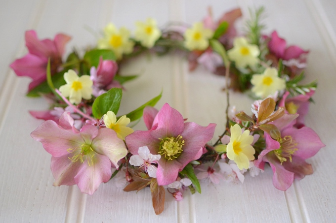 Image result for flower crown making