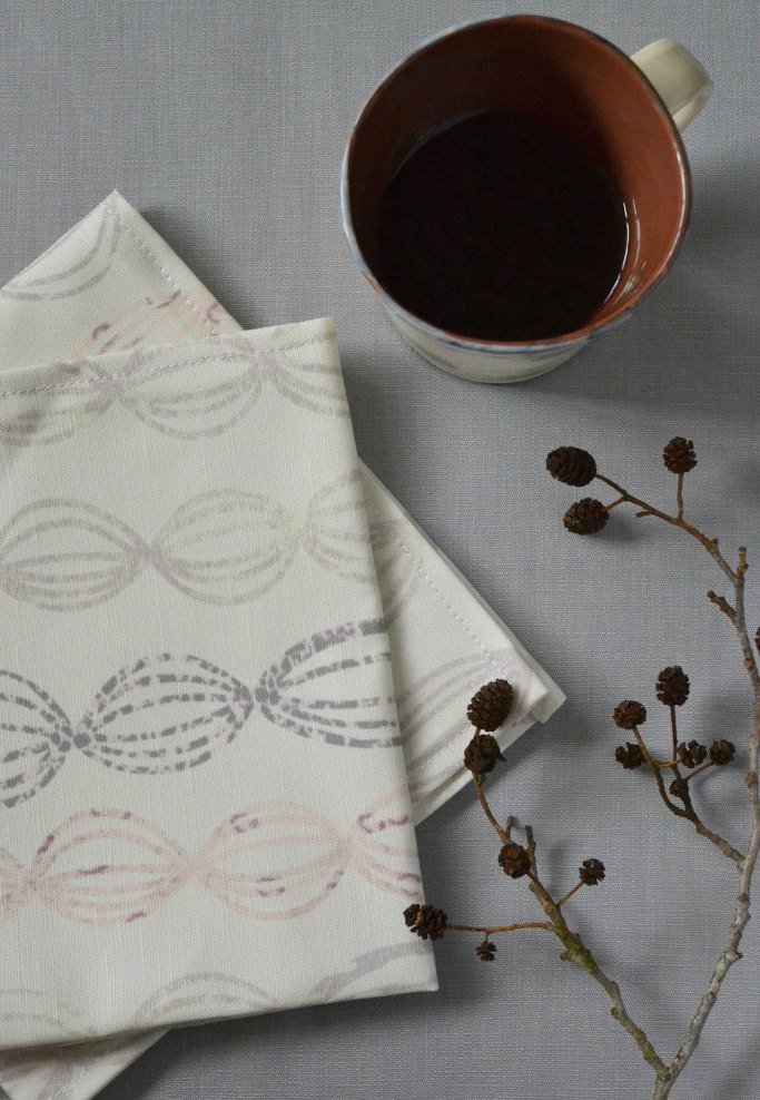 Rose Seed organic linen napkins - Decorator's Notebook shop