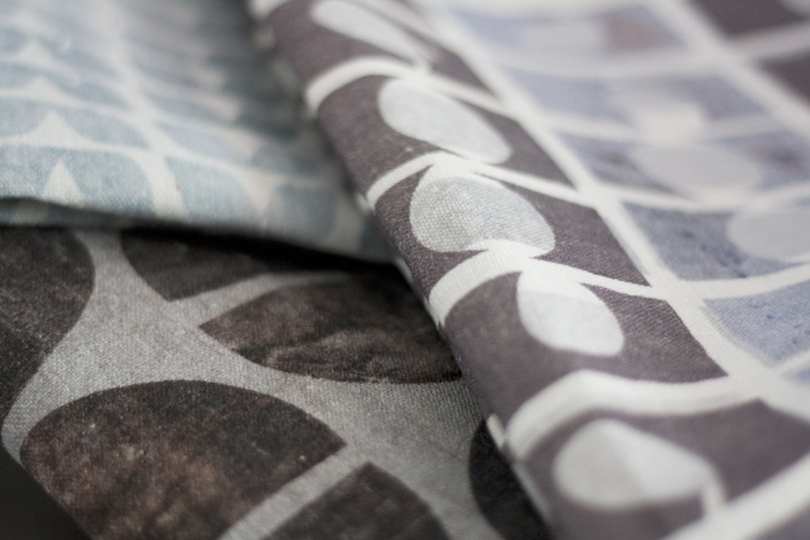 Textiles printed by Nancy Straughan - shop at Decorator's Notebook