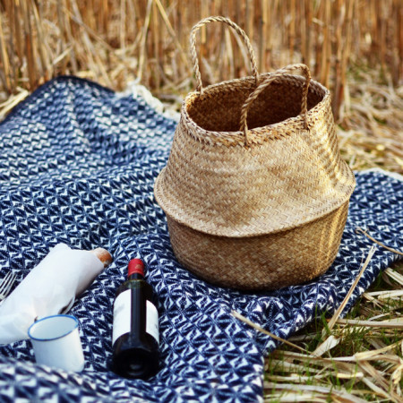 blue_woven_picnic_blanket_and_seagrass_basket