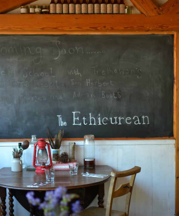 Blackboard at The Ethicurean restaurant - Decorator's Notebook blog
