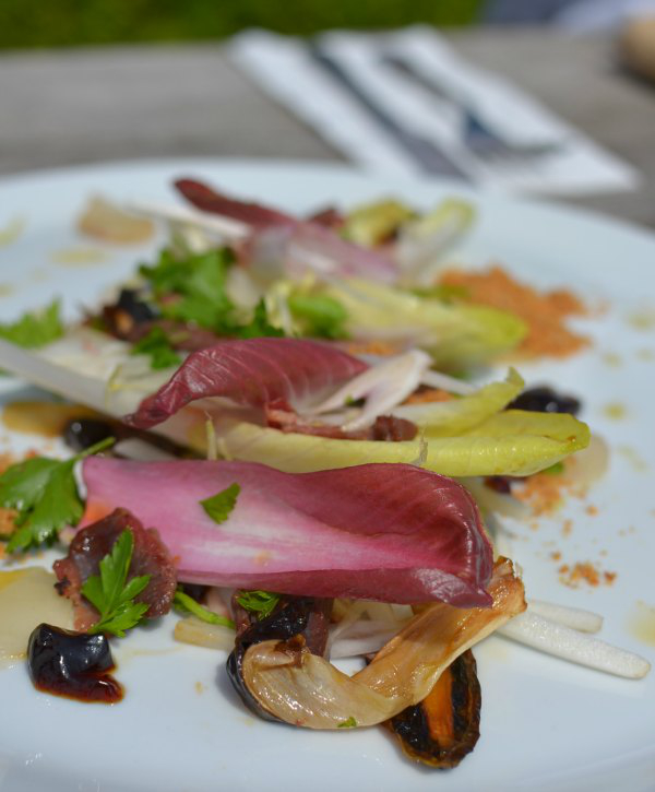 Chicory salad at The Ethicurean restaurant Decorator's Notebook blog