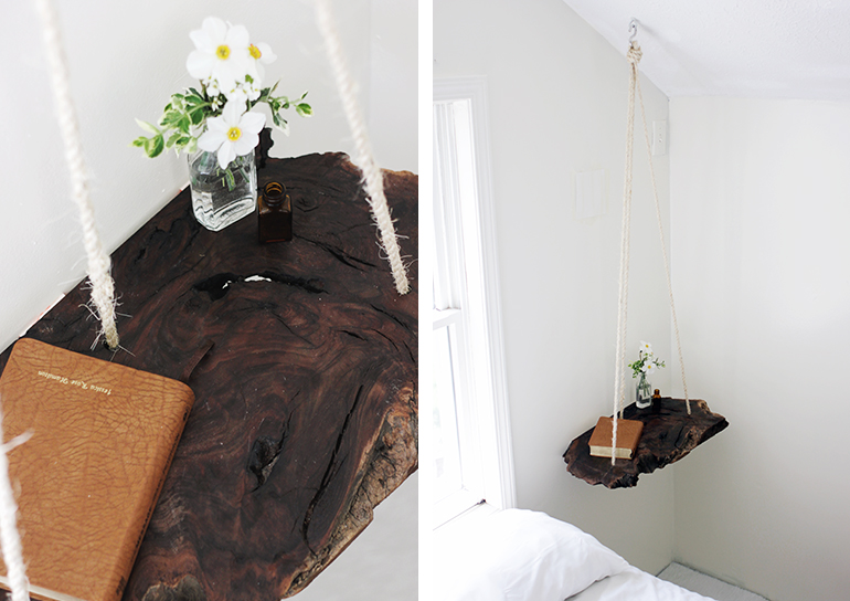 DIY: hanging bedside table - Decorator's Notebook
