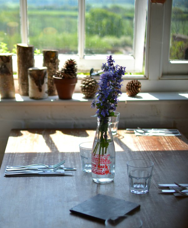 Table at The Ethicurean restaurant - Decorator's Notebook blog