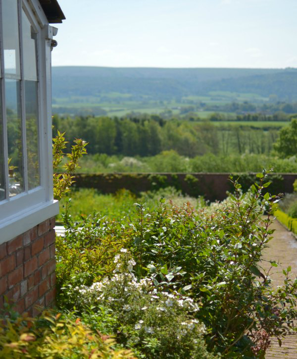 View from The Ethicurean Restaurant in spring - Decorator's Notebook blog