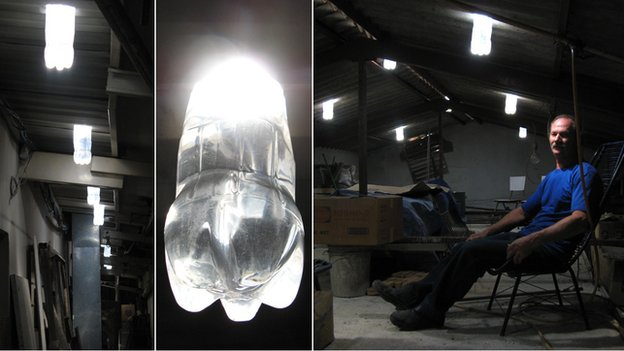 Alfredo Moser bottle light bulbs