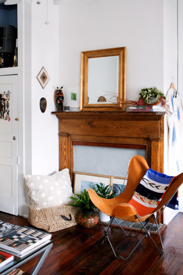 global textiles in Harper Poe's home