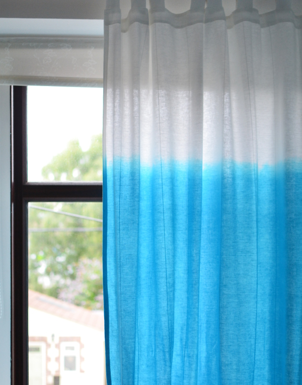 blue dip dye curtains how to guide DIY