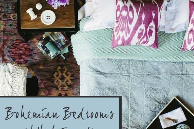 Bohemian bedroom ideas Decorator's Notebook blog