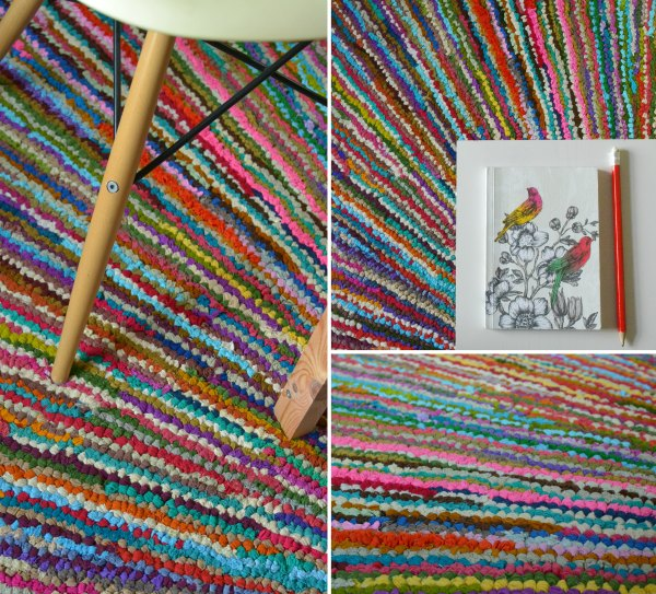 Cairo Sunburst ethical rag rug from The Rug House