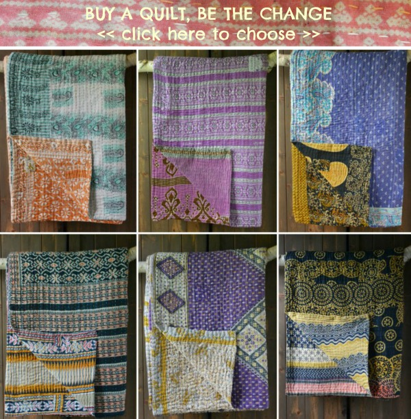 Kantha quilts UK at Decorator's Notebook online shop