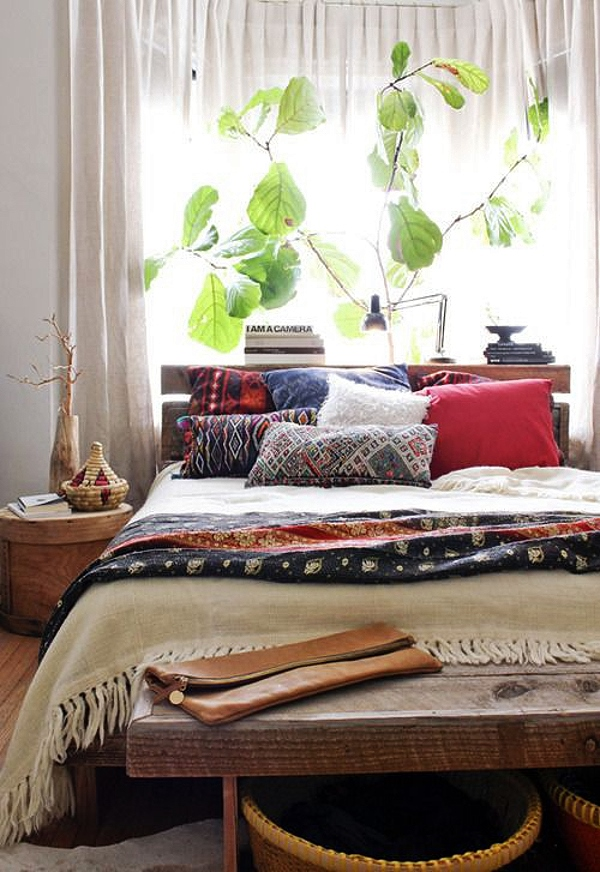 Bohemian bedrooms styled five ways decorator 39 s notebook for Ethnic bedroom ideas