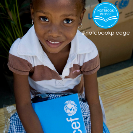 Decorator's Notebook donates a school notebook to a child in need for every new subscriber. Join the #notebookpledge