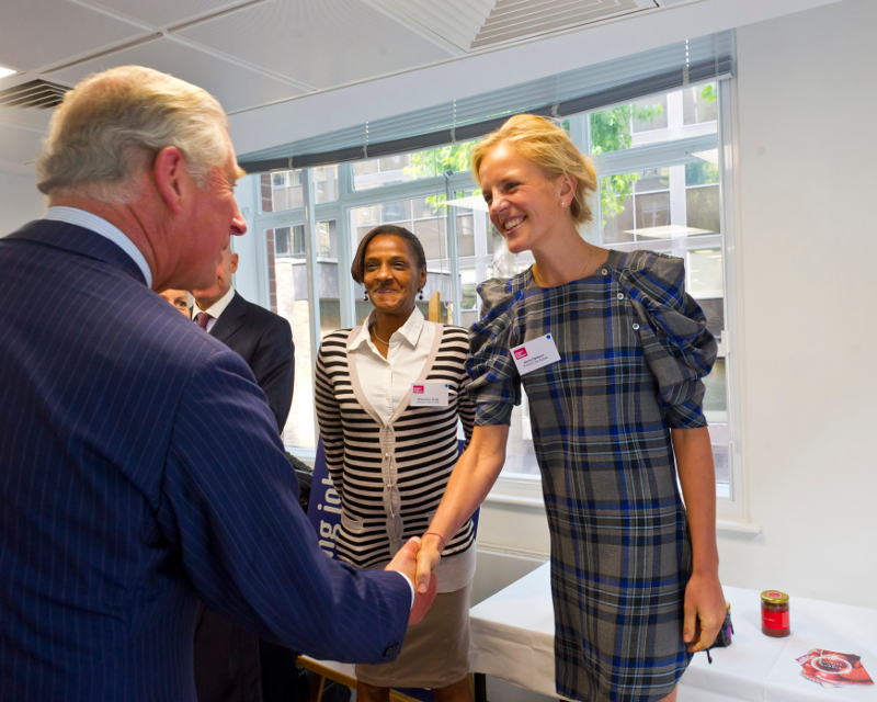 Prince Charles and Rose at Rubies in the Rubble