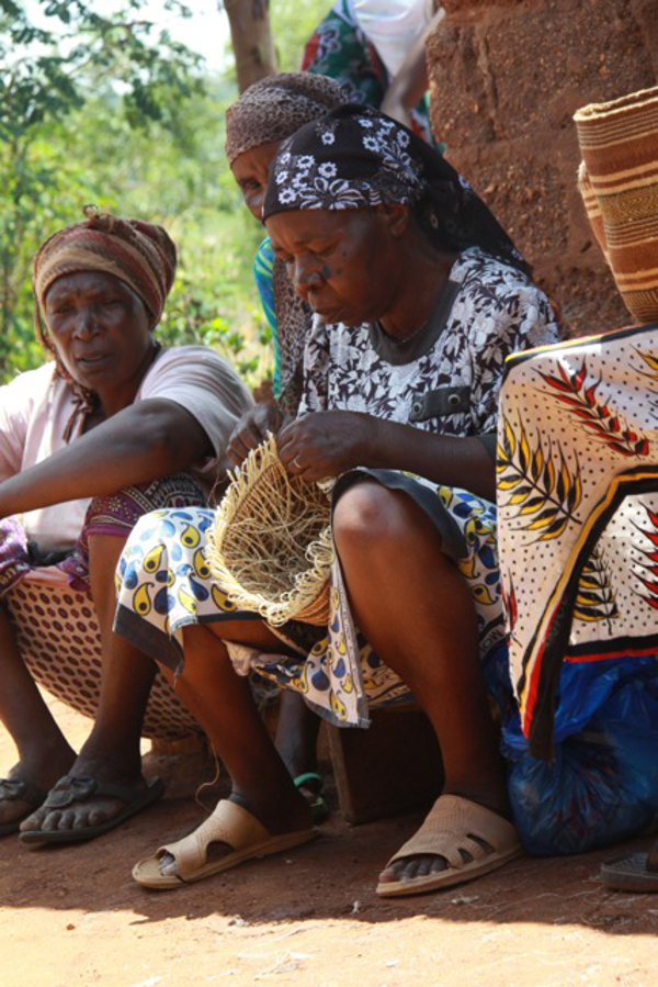 A few of the basket weavers in Mwatate cooperative for Decorator's Notebook