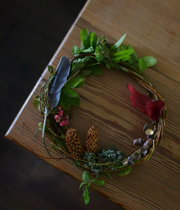 Autumn wreath Decorator's Notebook