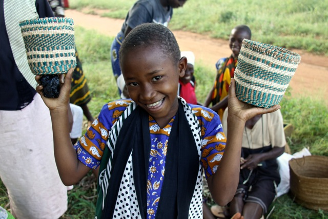 By making fair trade baskets our weavers can send their children to school