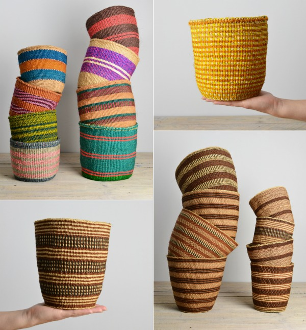 Kenyan baskets from Decorator's Notebook Shop handmade and fair trade