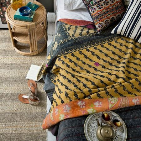 What is a kantha quilt