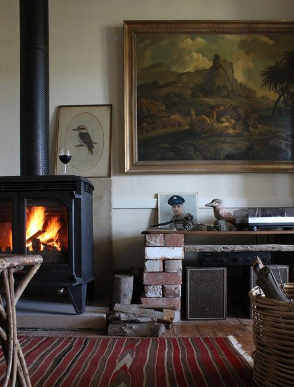 Wood burning stove to get cosy for winter