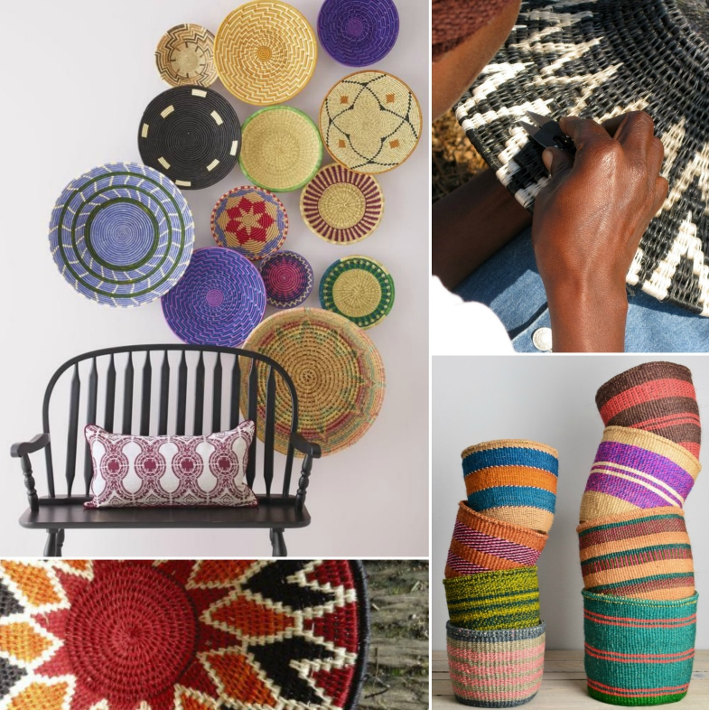 Global interiors trend bright baskets