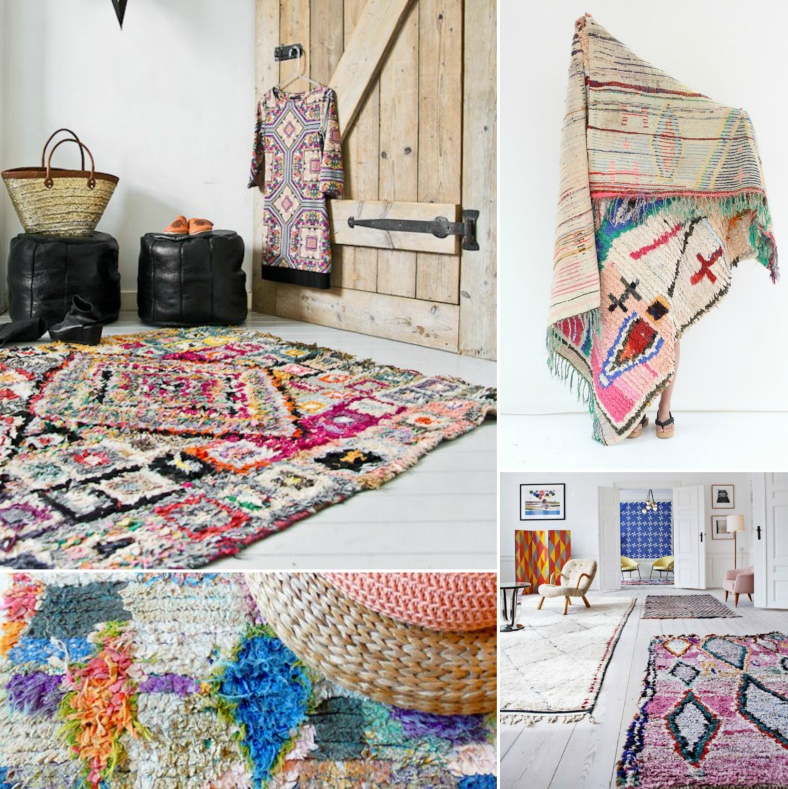 Global interiors trends boucherouite rugs