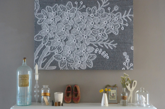 Surface View lace canvas - Decorator's Notebook blog