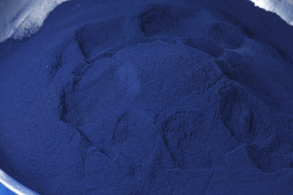 Step 7 indigo is powdered ready to make dye at Living Blue for Decorator's Notebook