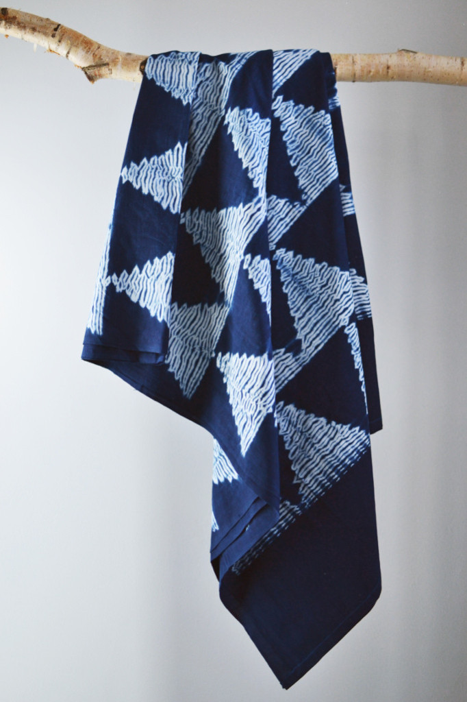 Shibori indigo throw arrow Decorator's Notebook shop