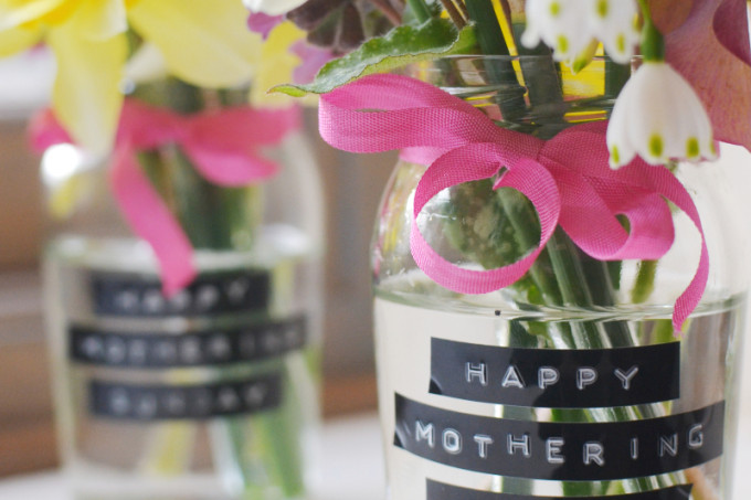 Homemade vases for mother's day