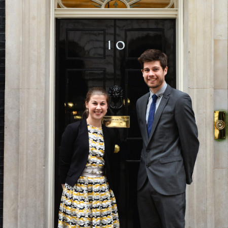 Bethan John and Joe John from Decorator's Notebook at Downing Street