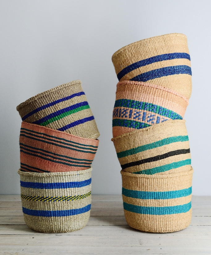 Decorator's Notebook Blue_African_woven_baskets_Kenya