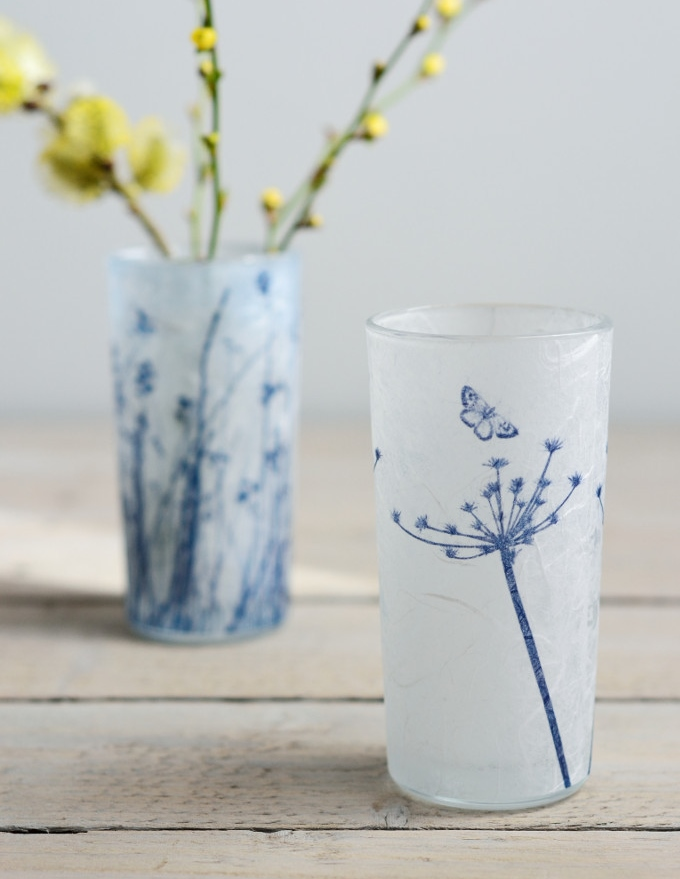 Decorator's Notebook Cyanotype_blue_white_glass_flower_vase_cow_parsley