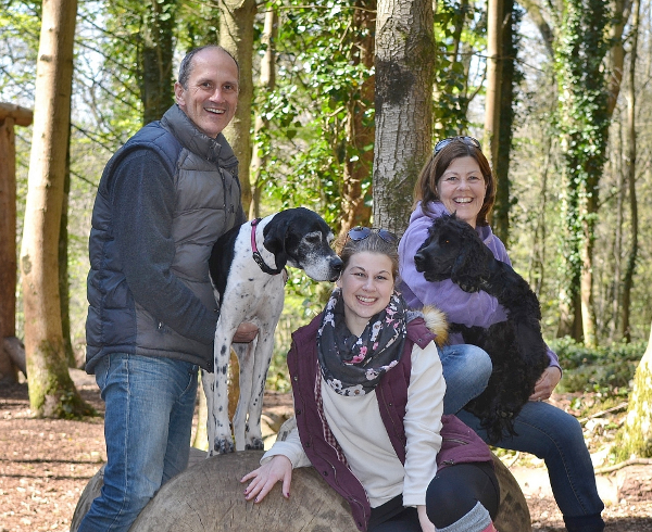 The John Family with Kimba the hearing dog