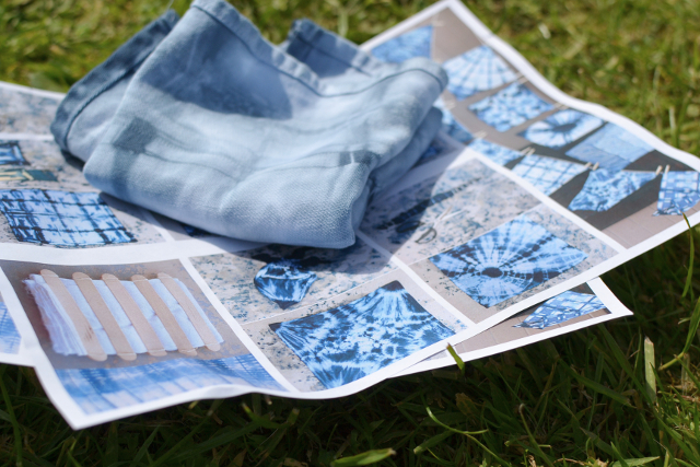 Instructions for shibori dying