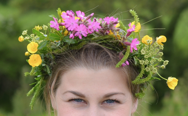Wildflower crown made