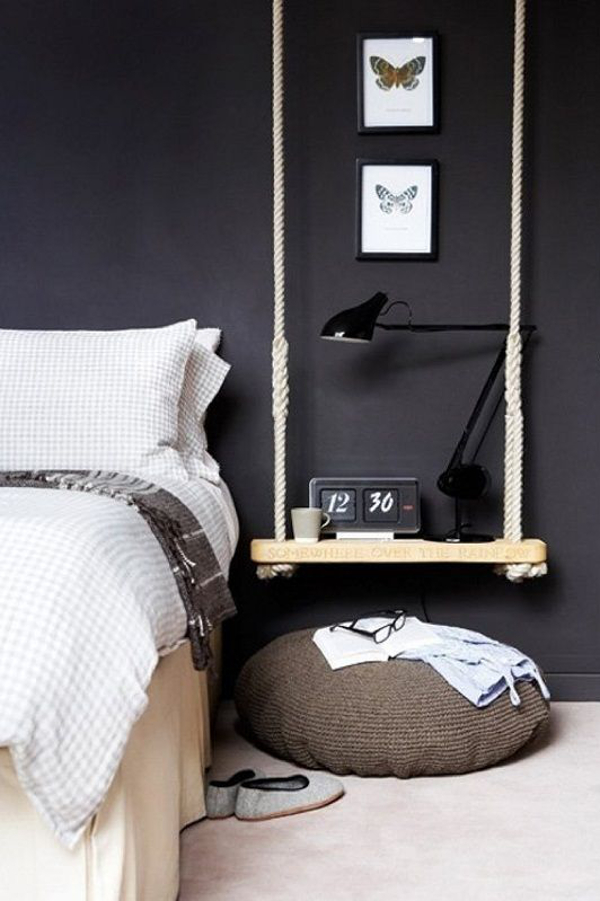 Hanging bedside table