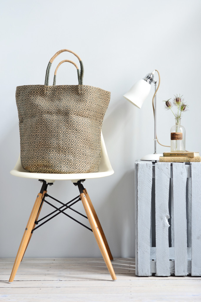 Jute_shopping_bag_storage_basket_grey_diamond_fairtrade