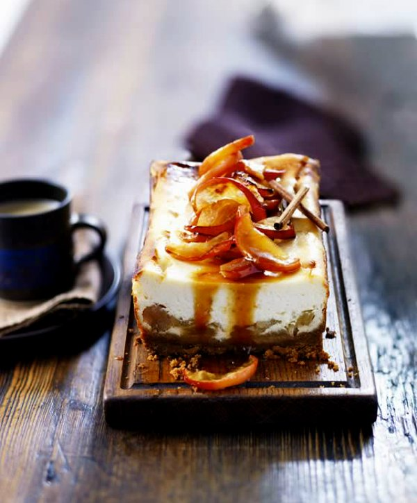 Bonfire night dessert - toffee apple cheesecake