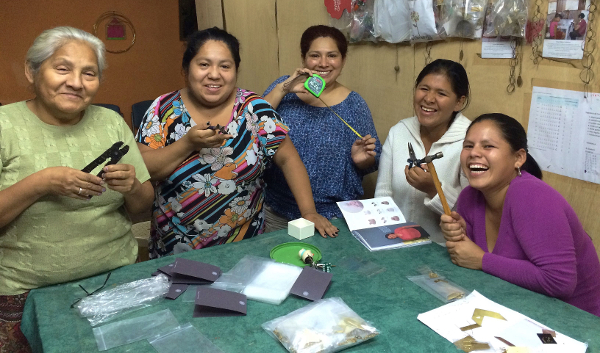 Fair trade jewellery being made in Peru for Decorator's Notebook