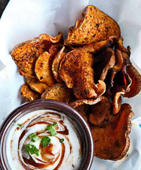 Oven baked honey barbecue sweet potato chips