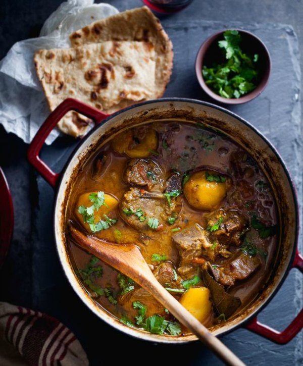 Slow cooked lamb and potato stew