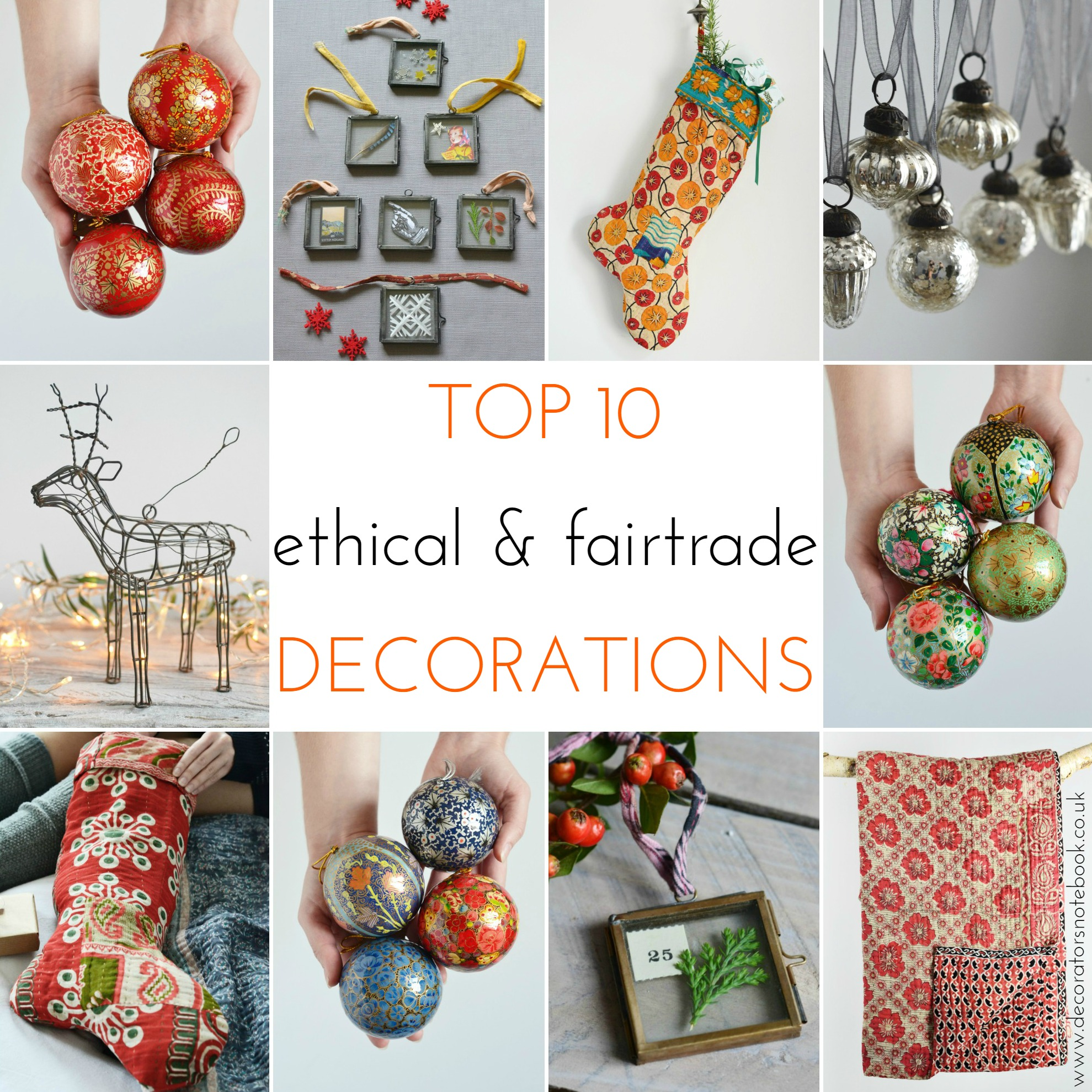 Decorator's Notebook Shop - top 10 ethical and fair trade Christmas Decorations