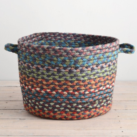 Braided utility basket in Carnival Blue - Decorator's Notebook shop